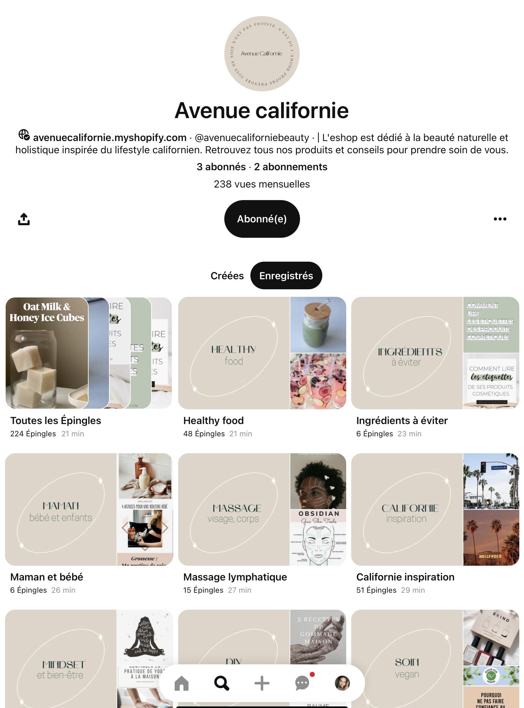 Pimp ton Pinterest - Avenu californie